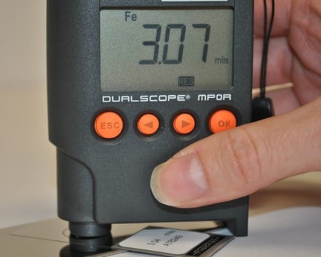 coatings inspection instrument calibration