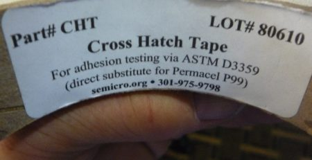 cross hatch tape coatings adhesion