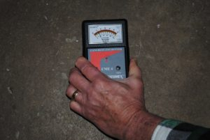 moisture detection electrical impedence meter