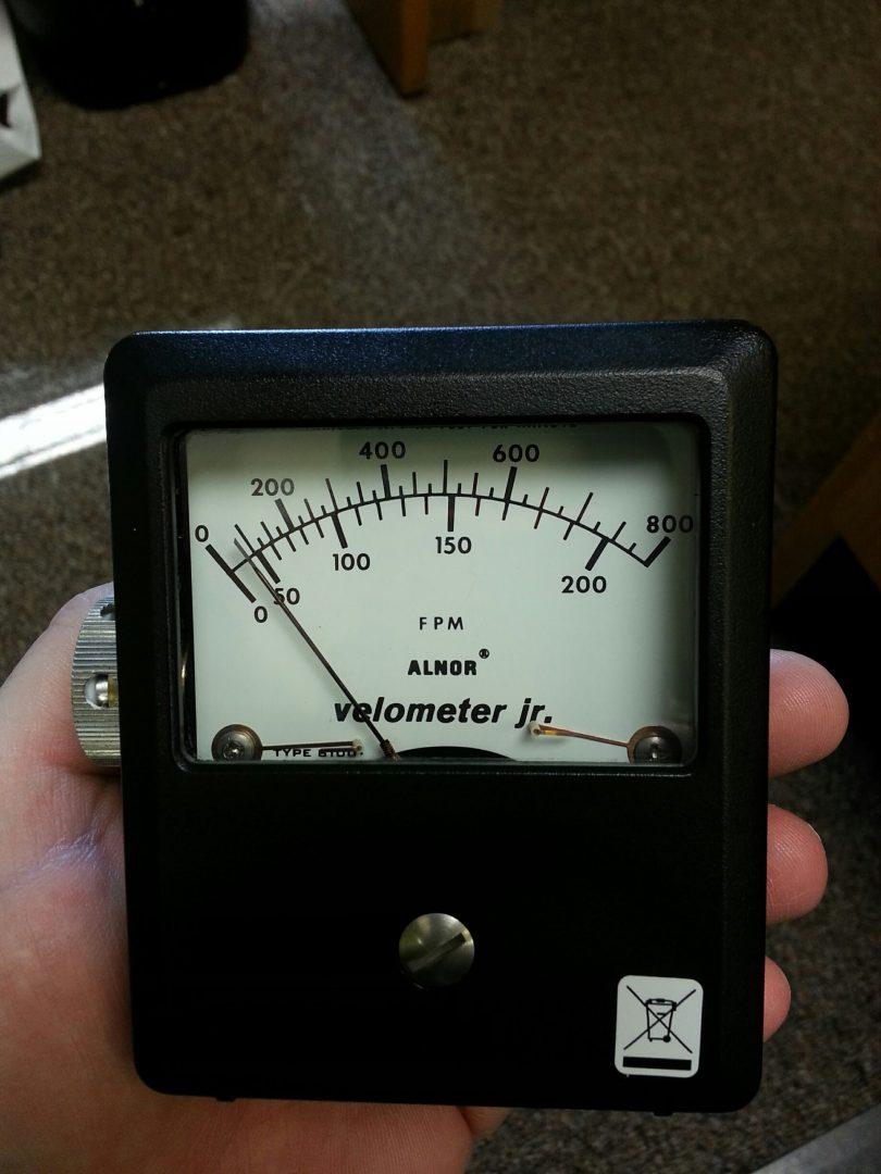 Velometer And Rotating Vane Anemometer